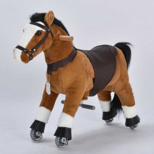 """29"""" Ride-on Unicorn for 3-6 Years Old (Black Mane and Tail)"""