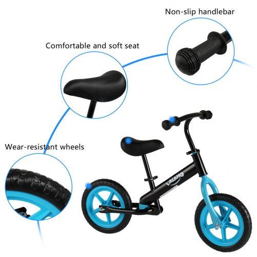 Kids Balance Bike  Height Adjustable  Blue