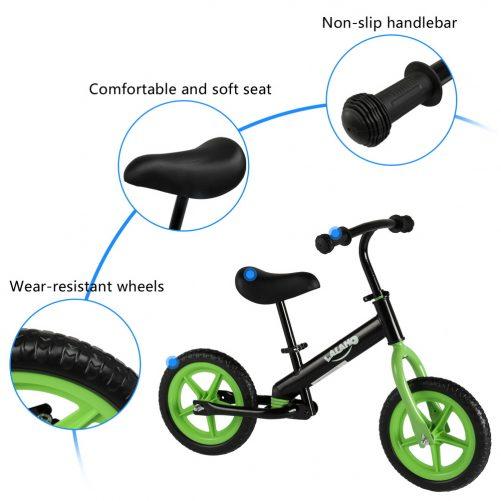 Kids Balance Bike  Height Adjustable Green